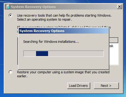 Run windows 7 repair without disk